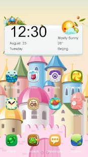 Princess Castle Launcher Theme - náhled
