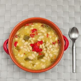 White Bean and Kale Pesto Soup Recipe