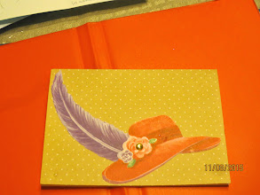 Photo: the front of the card