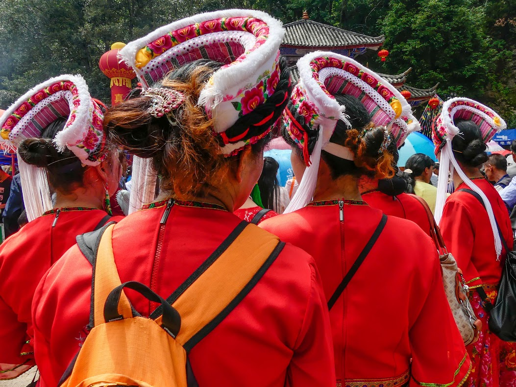 Bai women from Jianchuan at the Shaxi Singing Festival - Shaxi Yunnan China