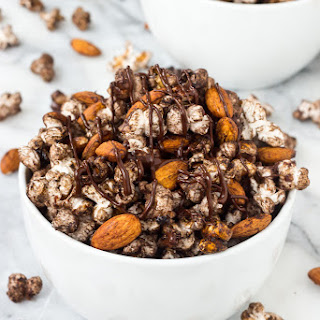 Spicy Chocolate Popcorn Snack Mix