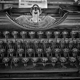 Typing Letters by Marco Bertamé - Artistic Objects Other Objects ( keys, old, vintage, numbers, typing, in a row, typewriter )