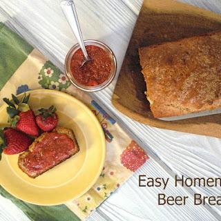 Easy Homemade Beer Bread.