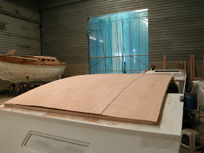 Photo: The curbed roofs are made of many thin plywood sheets