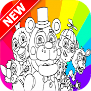 Five Nights Freddy Coloring Book