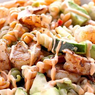 Spicy Shrimp Pasta Salad.
