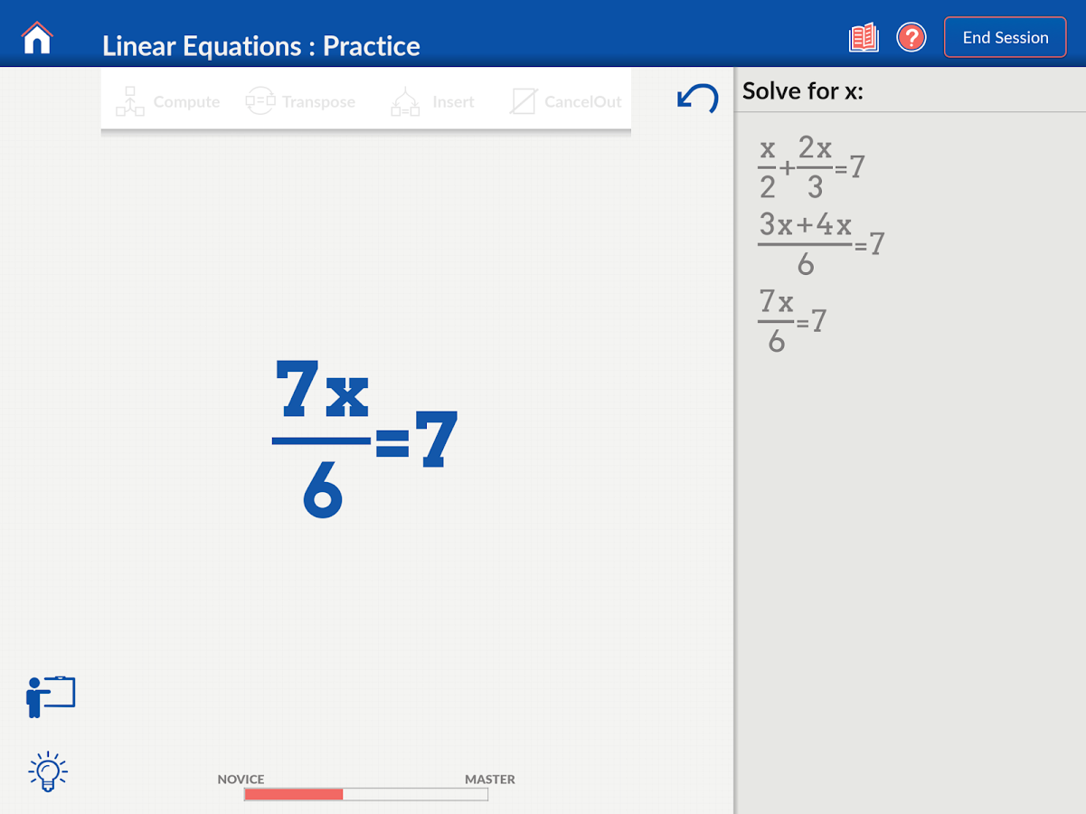 Algebra on Nudge- screenshot
