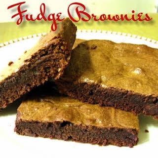 Fudge Brownies.