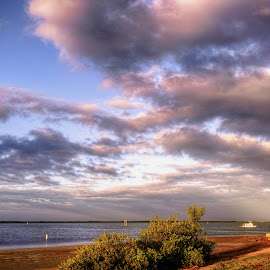 Dunedin Blvd. Dunedin, Florida. by Edward Allen - Landscapes Cloud Formations