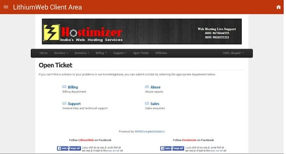 LithiumWeb Client Area- screenshot thumbnail