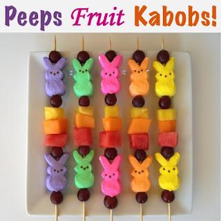 Peeps Fruit Kabobs!