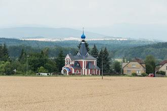 Photo: Kolejna cerkiew, tym razem w Řimicach. Lata budowy 1933-34.
