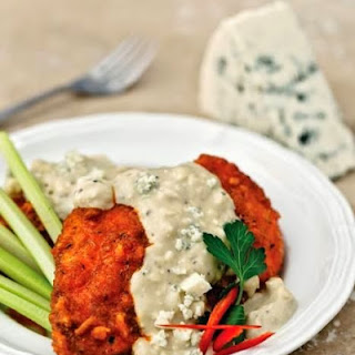 Buffalo Baked Chicken with Gorgonzola Cream Sauce