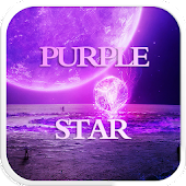 Purple Star Emoji Keyboard