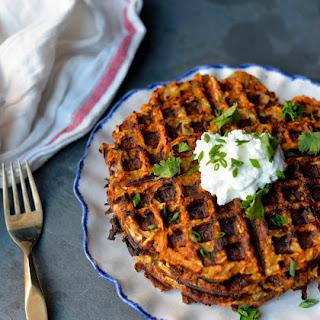 Smoky Sweet Potato Hash Brown Waffles