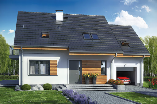 Genialny Projekty domów z nowoczesną elewacją - Tooba.pl VM55