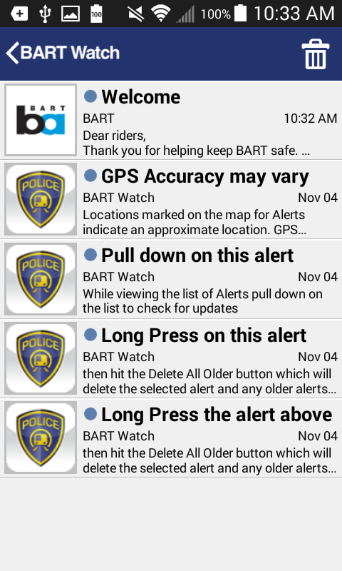 BART Watch- screenshot