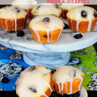 Glazed Lemon Muffins with Sour Cherries Recipe