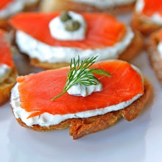 Smoked Salmon Crostini.