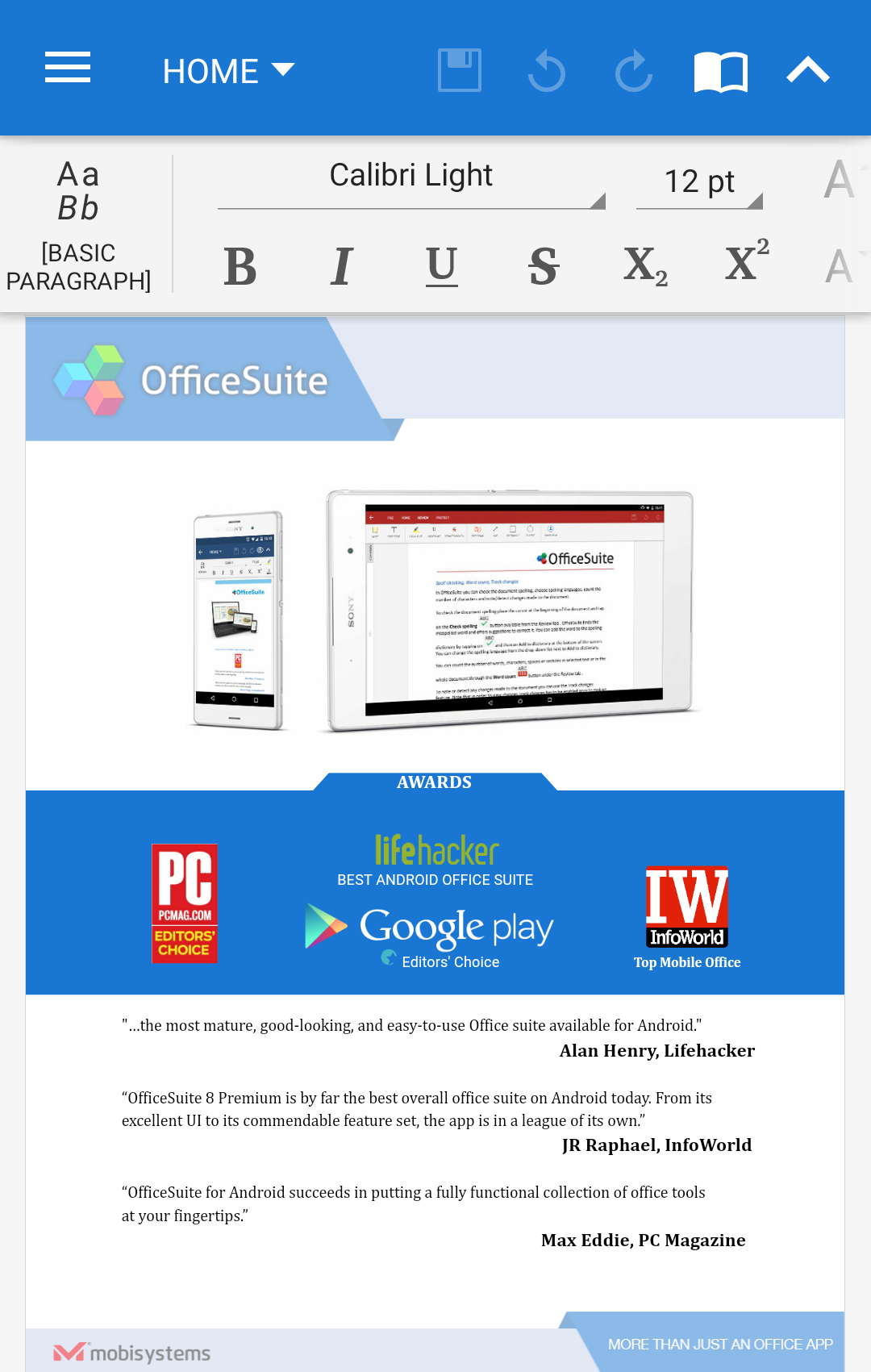 OfficeSuite Pro + PDF screenshot #1