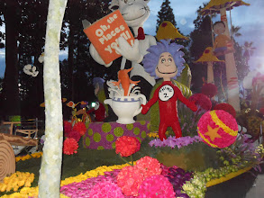 "Photo: Pasadena Rose Parade 2013  Kaiser Float ~Enjoy looking how they used Red Apples of the float ""Cat in the Hat"""