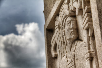 Photo: Counter reliefs embellish the exterior doorways and outer walls on the north side..