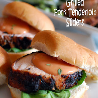 Grilled Pork Tenderloin Sliders.