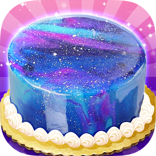 Galaxy Mirror Glaze Cake - Sweet Desserts Maker