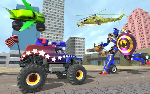 US Police Monster Truck Robot Transform 1.1 MOD + APK + DATA Download 2