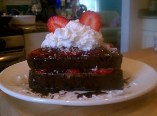 """New York City"" Chocolate French Toast ""Chocolate French Toast with fresh strawberries,..."