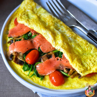 Smoked Salmon Egg Crepe.