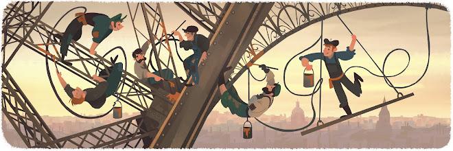 Google Doodle για Πύργο του Άιφελ