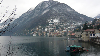 Photo: Argegno  in the snow.