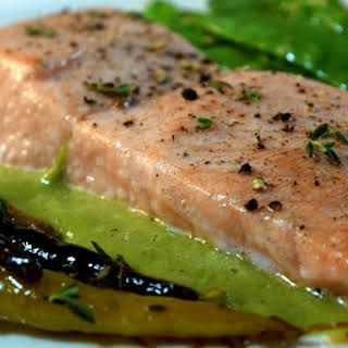 Weeknight Salmon with Poblano Cream.