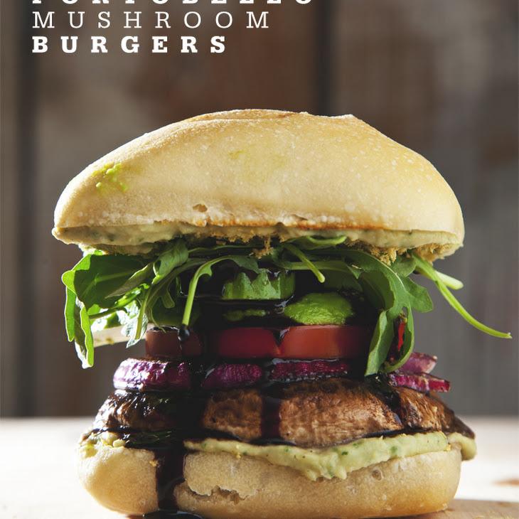 Easy Portobello Mushroom Burgers (Vegan)