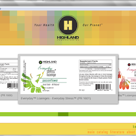 Highland Laboratories Interactive Catalog by April Greer - Web & Apps Pages ( ui, app, flash, webpage, catalog, actionscript )