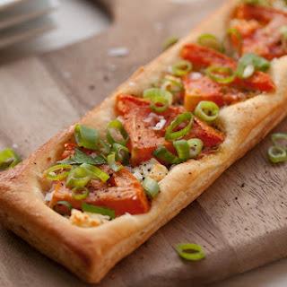 Tomato, Scallion and Goat Cheese Puff Pastry Tart Recipe