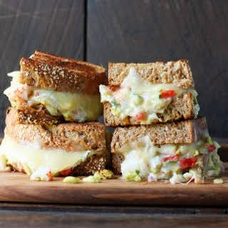 Decadent Crab Salad Grilled Cheese.