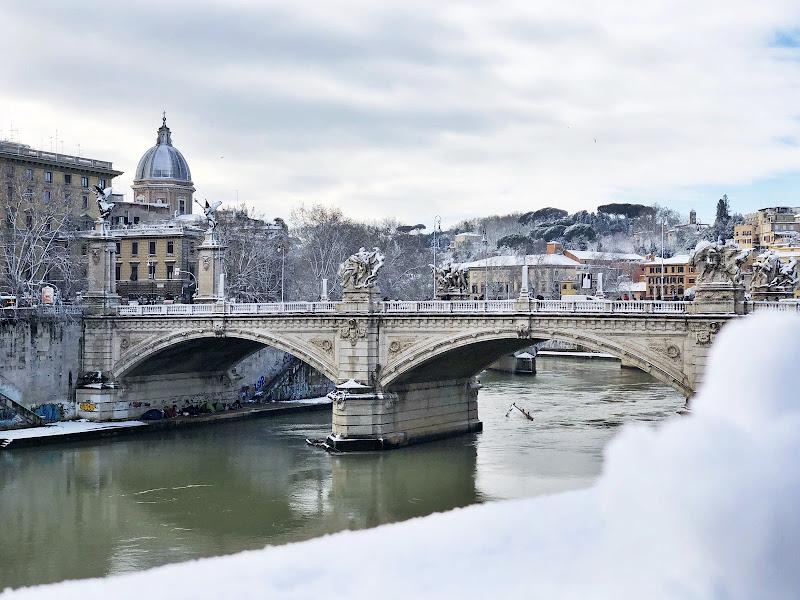 Ponte Romano innevato  di Matteo Arcangeli