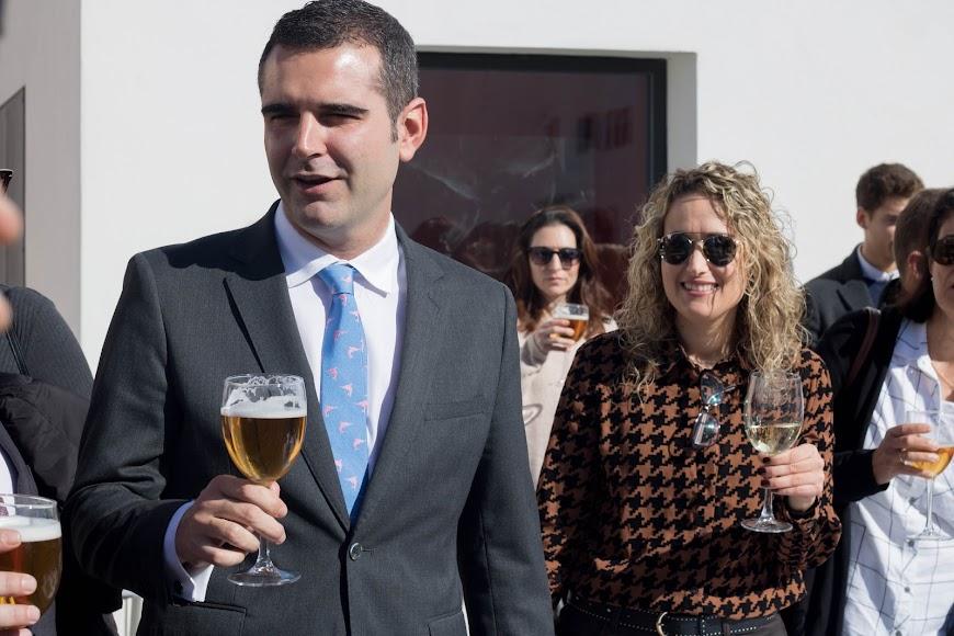 Brindis del alcalde en la inauguración.