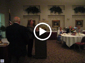 Video: District Governor Cynde Covington installs the 2010-2012 Club Officers and Directors.  President is Dennis Robinson and President-Elect is Eric Sanders