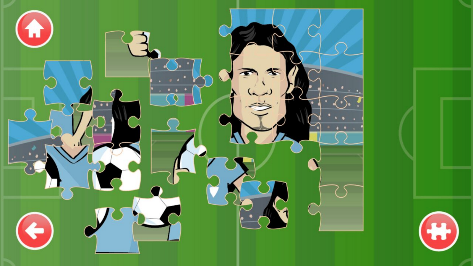 Soccer puzzle- screenshot