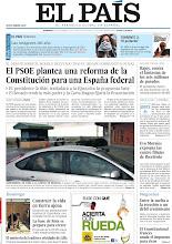 Photo: El PSOE plantea una reforma de la Constitución para una España federal, Carromero llega a la cárcel de Segovia desde Cuba y Evo Morales expropia las cuatro filiales de Iberdrola, en nuestra portada del domingo 30 de diciembre http://srv00.epimg.net/pdf/elpais/1aPagina/2012/12/ep-20121230.pdf