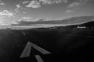 Photo: Despegando de vuelta a casa.