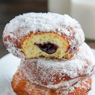 Old-Fashioned Jelly Doughnuts.