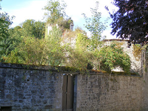 Photo: Continuing up from the church, one can see some remains of the town's fortifications.