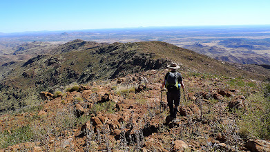 Photo: Following the ridge down from the summit of Mt Zeil (Ricky's photo)