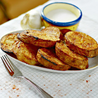Grilled Marinated Sliced Potatoes.