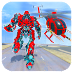Helicopter Robot Battle: Robot Transformation Game icon