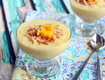 Coconut Mango Pudding Recipe